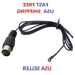 FM Radio Antenna BLACK FEMALE Push On PAL Connector for Ster