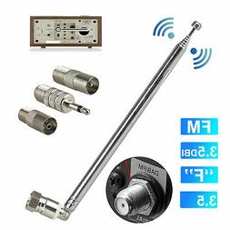 F Type Telescopic Aerial Antenna 75 Ohm with TV / 3.5 Adapte