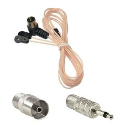 FM Dipole Antenna Aerial 75Ω & TV / 3.5mm Adapter For Home