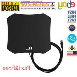 1byone Indoor 1080P HD TV Antenna Digital FM/VHF/UHF 4K Ampl