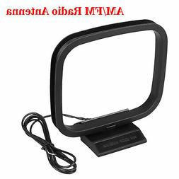 Indoor AM FM Loop Antenna Aerial Connector for Stereo Audio
