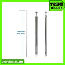 New 7 Sections Telescopic FM Antenna  For Portable Radio Blu